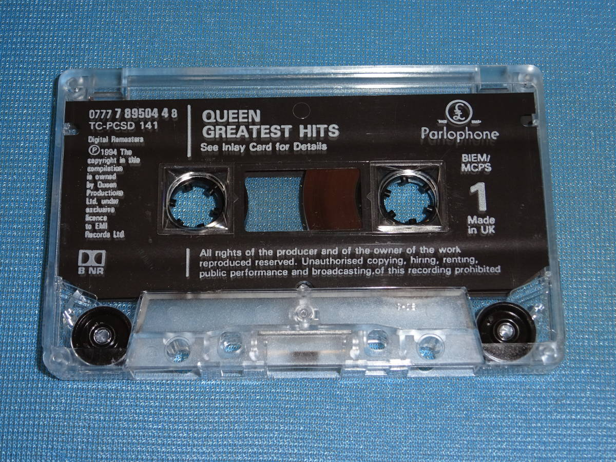 ★クイーン★ 「QUEEN GREATEST HITS」 UK盤 カセットテープ_画像5