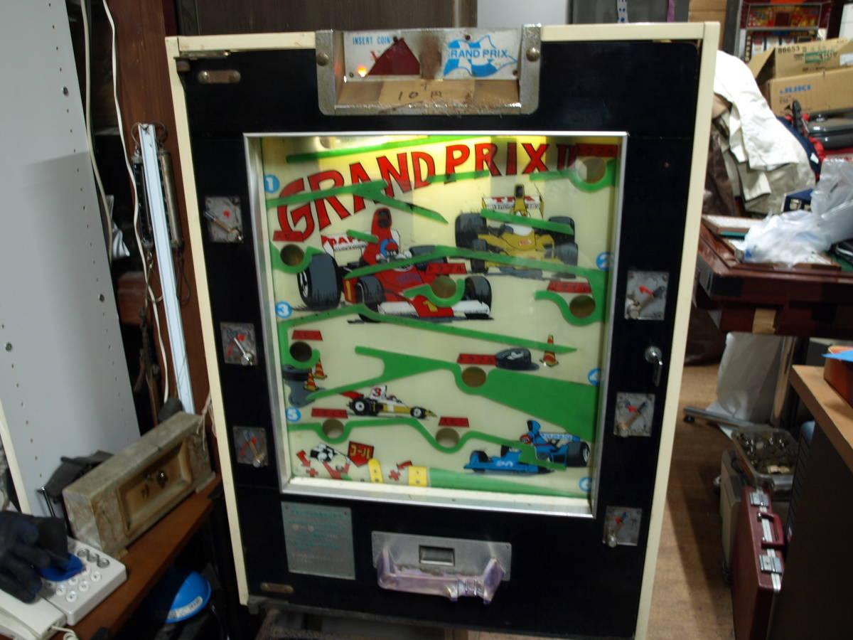 昭和レトロ アーケードゲーム『グランプリ』動作OK!駄菓子屋 10円ゲーム 温泉!