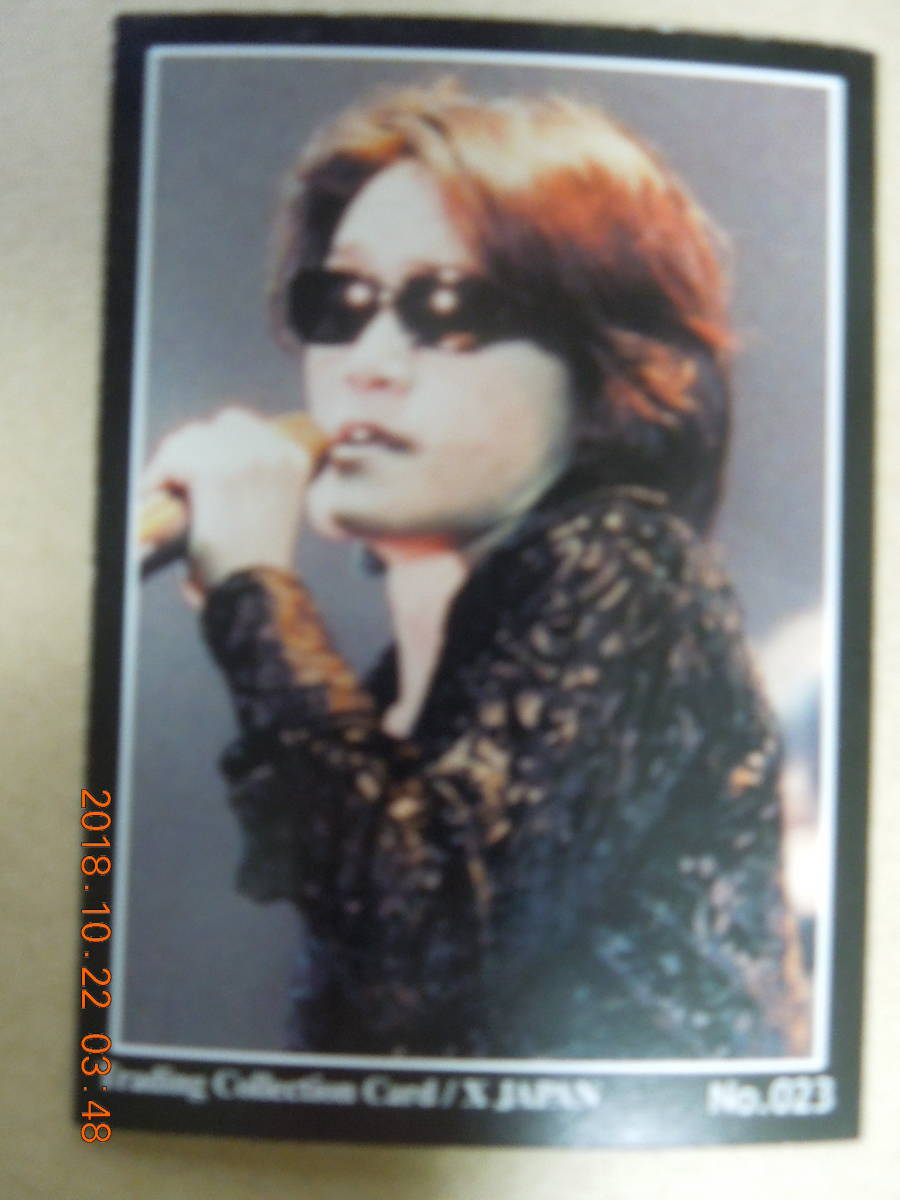 No.023 : X JAPAN / TOSHI Toshl / Trading Collection Card トレーディングコレクションカード_画像2