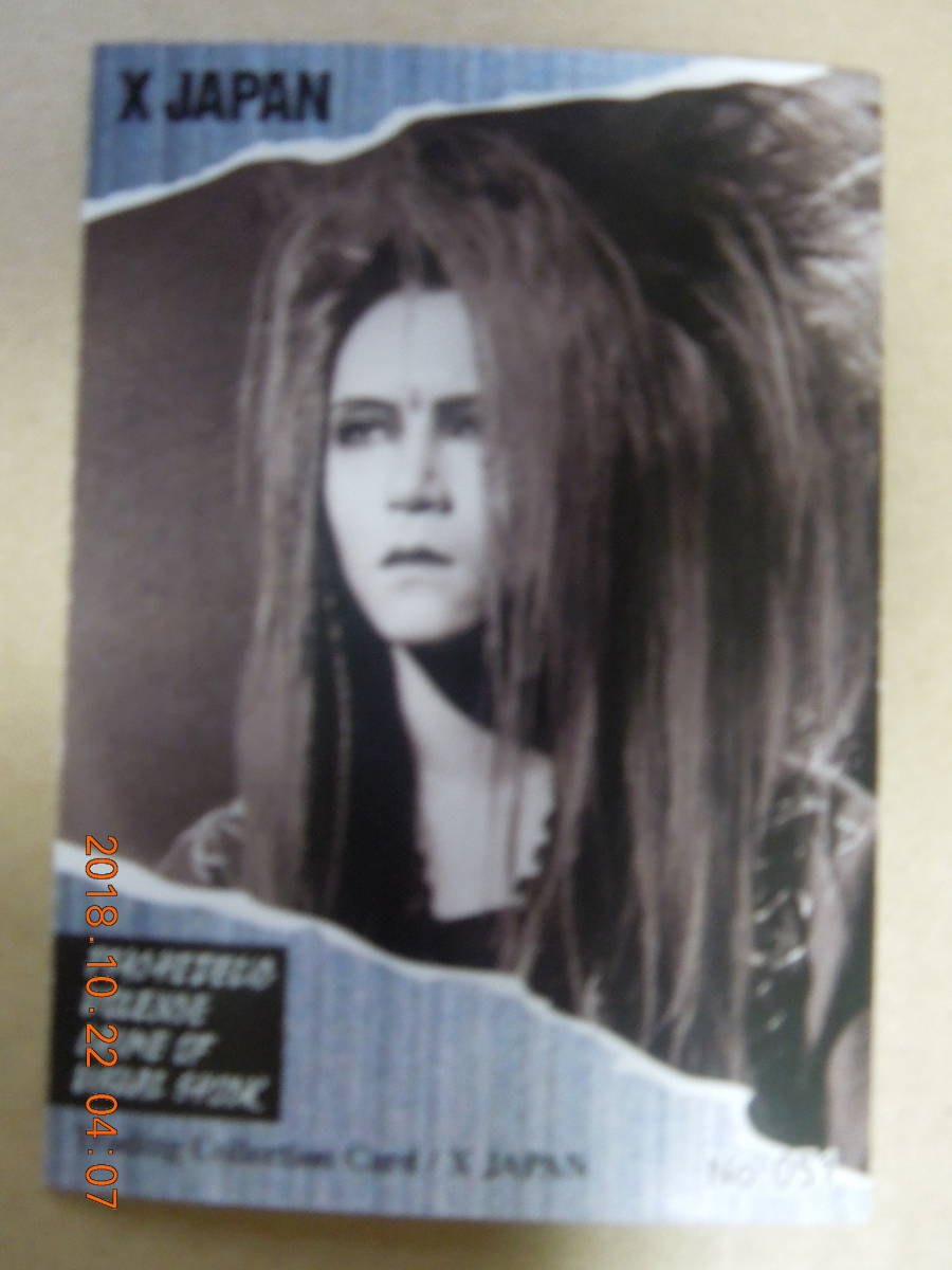 No.051 : X JAPAN / HIDE / Trading Collection Card トレーディングコレクションカード_画像2