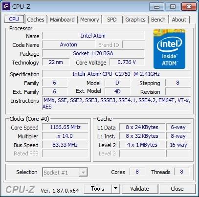 [ジャンク] ASRock C2750D4I Mini ITX マザーボード_画像8