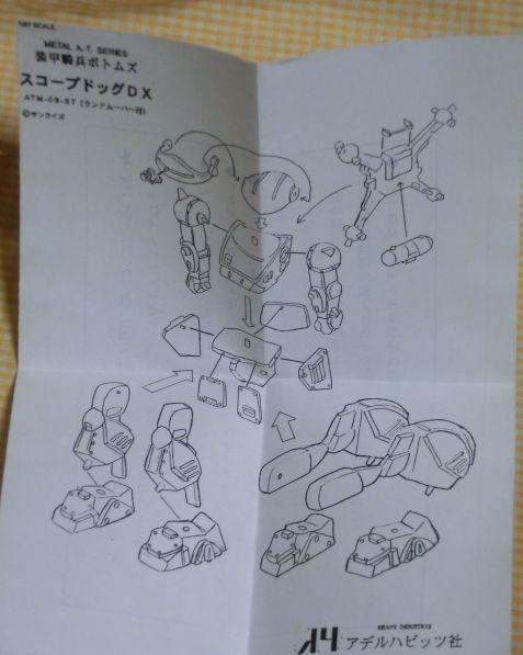 1/87 スコープドッグDX ラウンドムーバー付 メタルキット ATM-09-ST 装甲騎兵ボトムズ サンライズ スーパーロボット フィギュア 人形_画像3