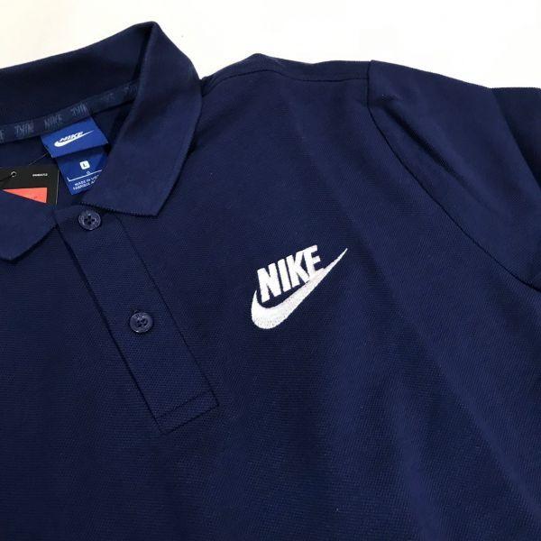 NIKE ナイキ マッチアップ ポロシャツ 半袖 ネイビー L PQ_画像2