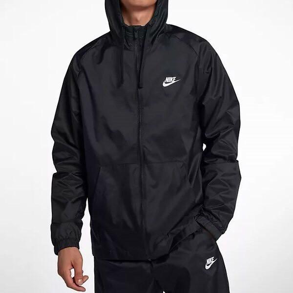 NIKE ナイキ ウーブン フーディ ウィンドブレーカ スーツ パンツ 上下セット 黒 Mサイズ 928120-010_画像2