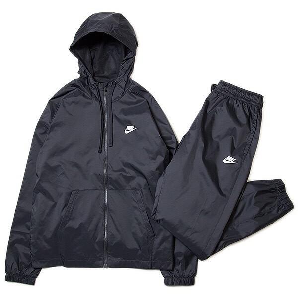NIKE ナイキ ウーブン フーディ ウィンドブレーカ スーツ パンツ 上下セット 黒 M 928120-010_画像3