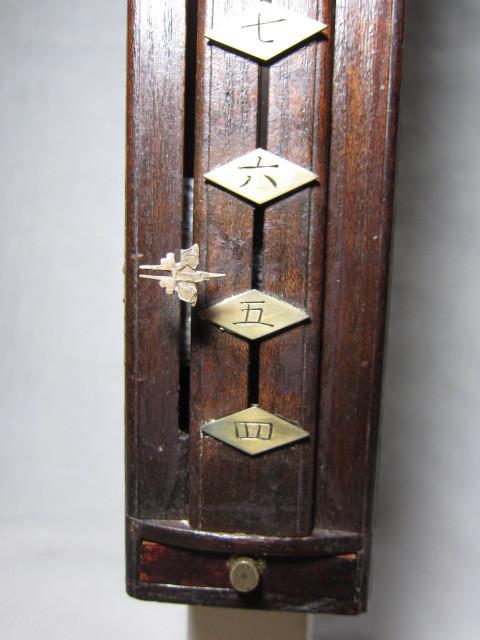 KI レトロ アンティーク 動作品 和時計 尺時計 大名時計 古い掛け時計_画像3