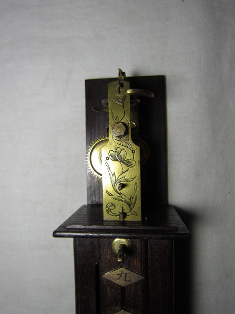 KI レトロ アンティーク 動作品 和時計 尺時計 大名時計 古い掛け時計_画像7