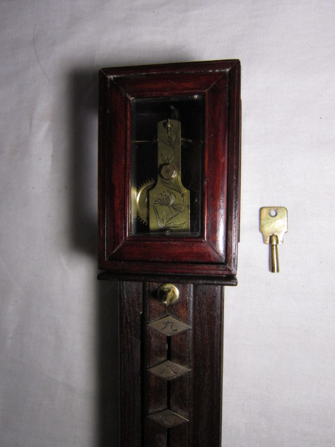 KI レトロ アンティーク 動作品 和時計 尺時計 大名時計 古い掛け時計_画像9
