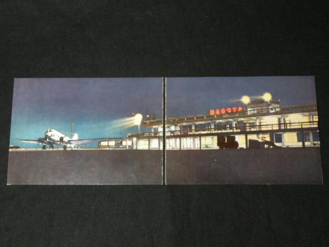 11 絵葉書 名古屋空港 7枚 / 昭和レトロ 愛知県 空港 航空機 飛行機 日ペリ航空 パノラマ _画像3