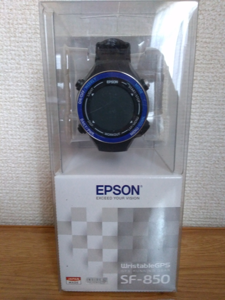 745bc9e10f 廃盤品 稀少 エプソン リスタブルジーピーエス EPSON Wristable GPS 腕時計 GPS機能 ランニング SF-