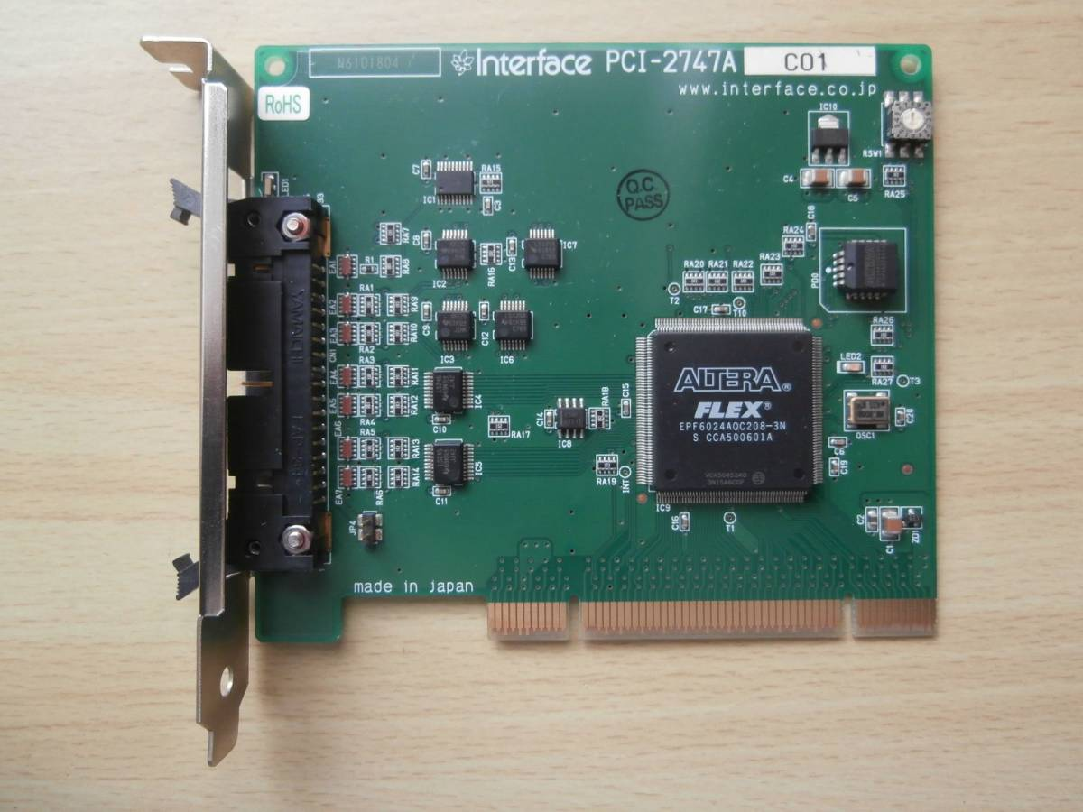 Interface PCI-2747A PPI24点TTL(FC) (24点デジタル入出力ボード)