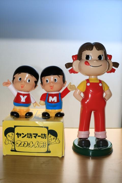 当時物 ペコちゃん 首ふり人形 不二家 と ヤン坊マー坊人形 ヤンマー 3体セット