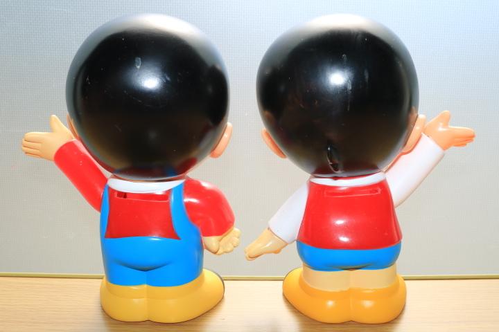 当時物 ペコちゃん 首ふり人形 不二家 と ヤン坊マー坊人形 ヤンマー 3体セット_画像9