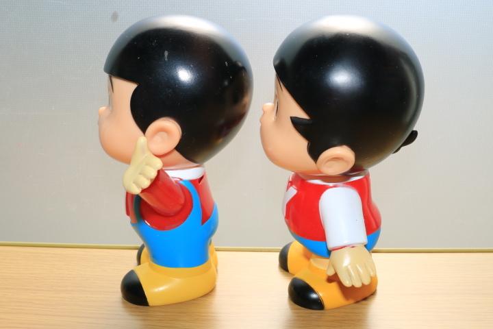 当時物 ペコちゃん 首ふり人形 不二家 と ヤン坊マー坊人形 ヤンマー 3体セット_画像8