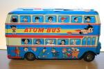 sptoym55 - 1960年代 当時物 希少 鉄腕アトム アトムバス 浅草玩具 ブリキ 2階建てロンドンバス 超レトロ
