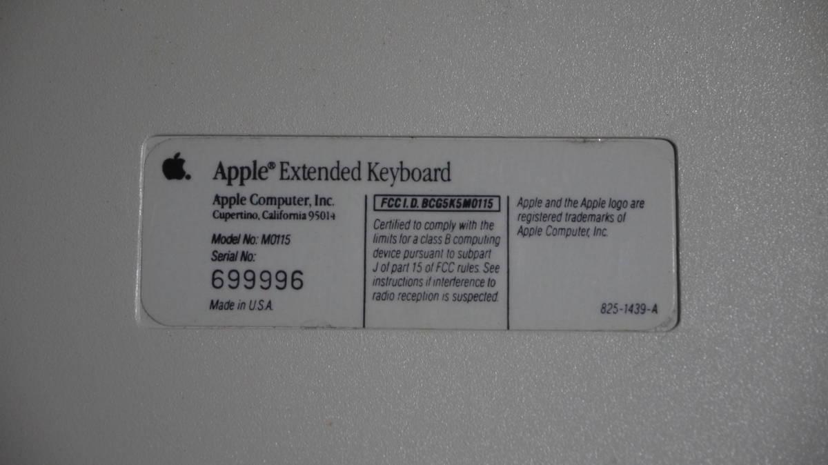 【 珍しい? ALPS軸 オレンジ 】 Apple Extended Keyboard M0115 Made in USA _画像3