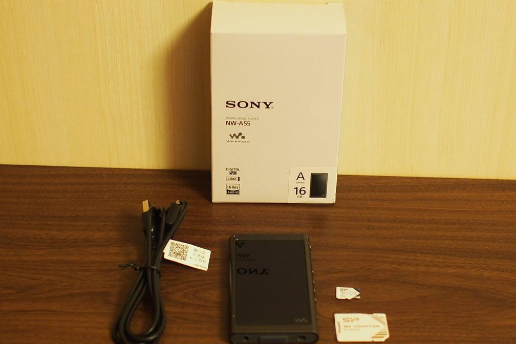ソニー NW-A55 16G micro SD 128GB付き 訳あり 送料無料 1円から