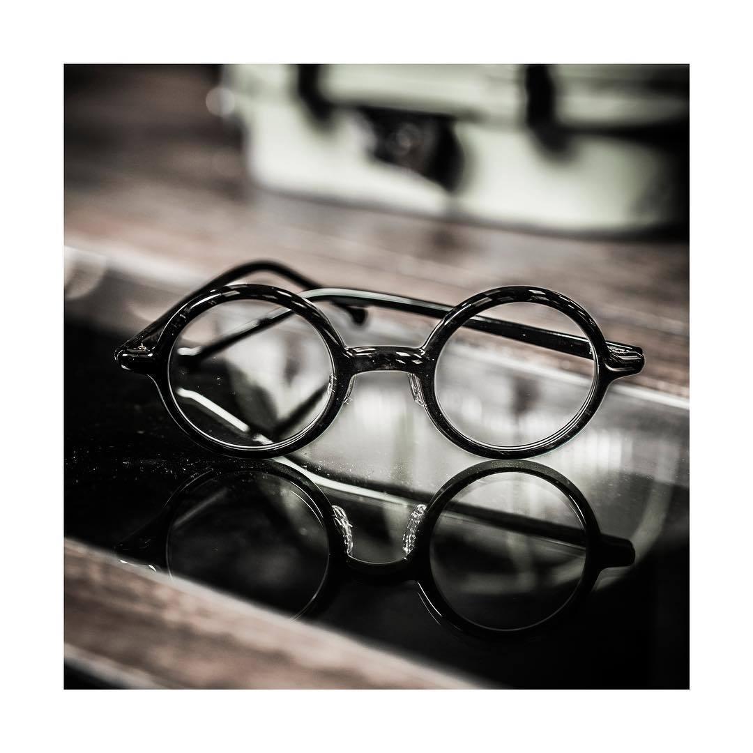 送料込み 白山眼鏡(ハクサンガンキョウ)「ROUND (classic) ラウンドクラシック 丸眼鏡 黒ブラック 伊達メガネ_画像1
