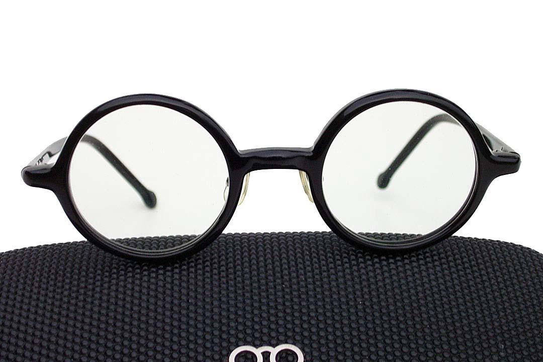 送料込み 白山眼鏡(ハクサンガンキョウ)「ROUND (classic) ラウンドクラシック 丸眼鏡 黒ブラック 伊達メガネ_画像3