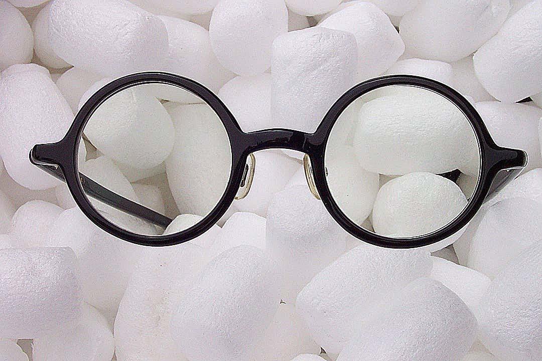 送料込み 白山眼鏡(ハクサンガンキョウ)「ROUND (classic) ラウンドクラシック 丸眼鏡 黒ブラック 伊達メガネ_画像4