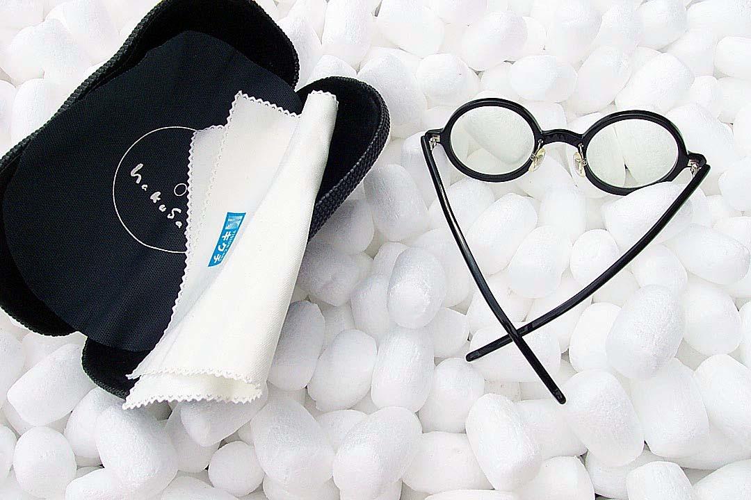送料込み 白山眼鏡(ハクサンガンキョウ)「ROUND (classic) ラウンドクラシック 丸眼鏡 黒ブラック 伊達メガネ_画像6