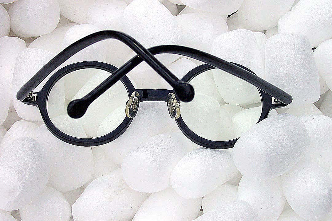 送料込み 白山眼鏡(ハクサンガンキョウ)「ROUND (classic) ラウンドクラシック 丸眼鏡 黒ブラック 伊達メガネ_画像8