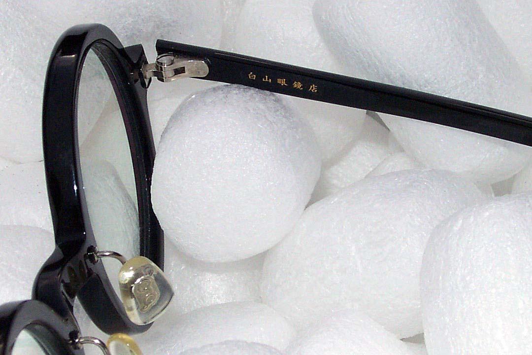 送料込み 白山眼鏡(ハクサンガンキョウ)「ROUND (classic) ラウンドクラシック 丸眼鏡 黒ブラック 伊達メガネ_画像9