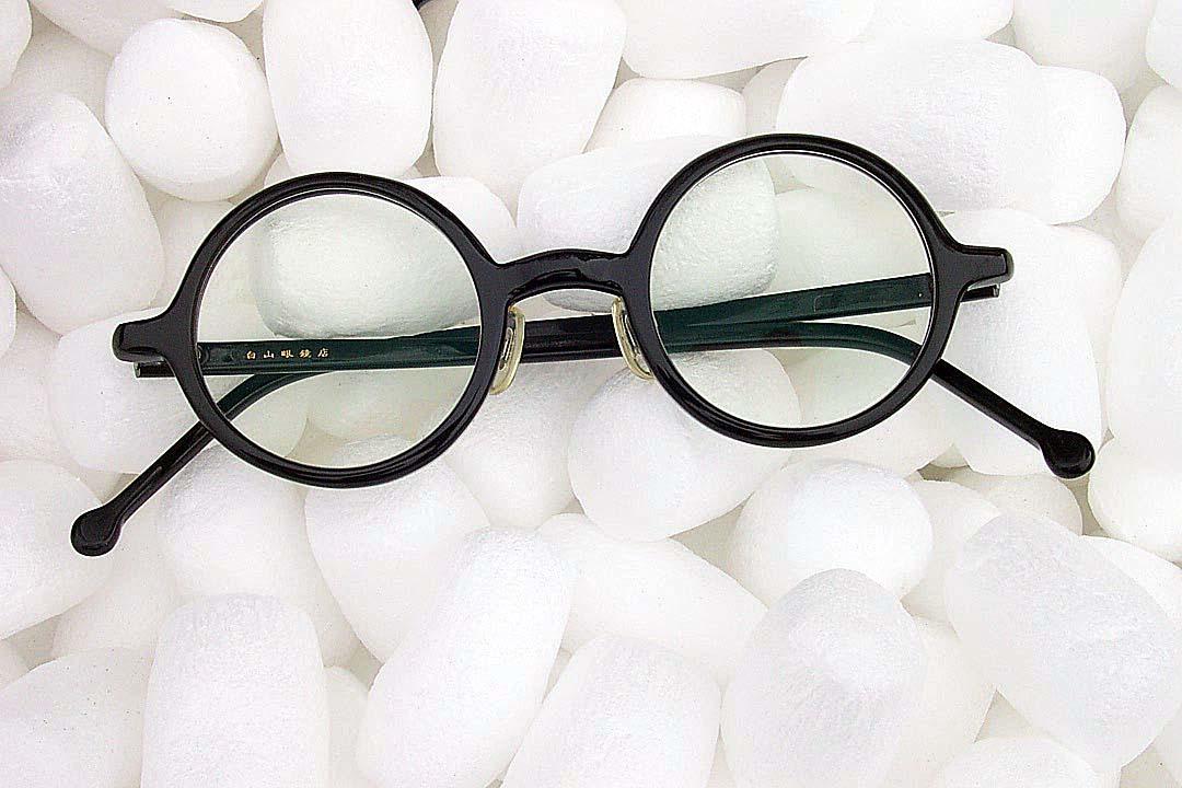 送料込み 白山眼鏡(ハクサンガンキョウ)「ROUND (classic) ラウンドクラシック 丸眼鏡 黒ブラック 伊達メガネ_画像10
