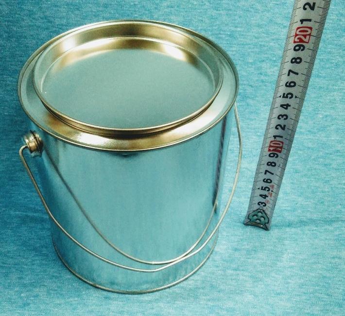 各種小分け 詰め替え保存容器 ブリキ空缶 3L/3000ml 丸缶_画像1