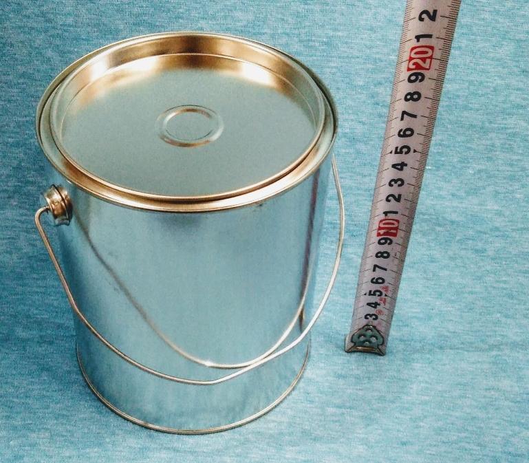 各種小分け 詰め替え保存容器 ブリキ空缶 2L/2000ml 丸缶_画像1