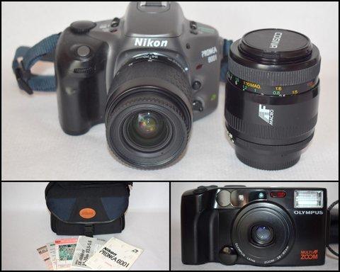 ニコンNikon PRONEA 600i /IX-Nikkor 24-70mm F3.5-5.6/ COSINA コシナ 100mm 1:3.5 MACRO/OLYMPUS IZM200 38-80mm コンパクトカメラ/BVH81_画像1