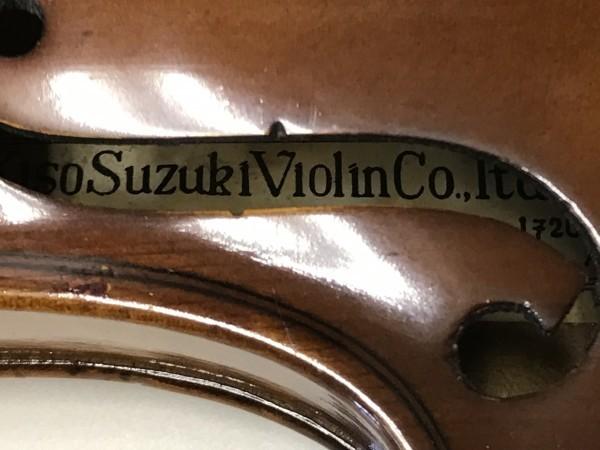 ジャンク品 Kiso Suzuki Violin Copy of Antonius Stradivarus Anno 1973 №9 破損品 ケース付き_画像7