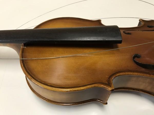 ジャンク品 Kiso Suzuki Violin Copy of Antonius Stradivarus Anno 1973 №9 破損品 ケース付き_画像4