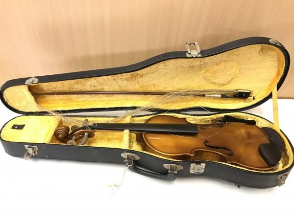 ジャンク品 Kiso Suzuki Violin Copy of Antonius Stradivarus Anno 1973 №9 破損品 ケース付き