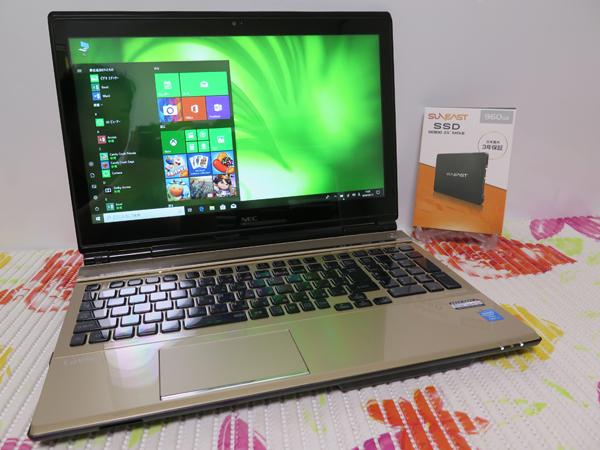 タッチ式 LL750/M【高速Core i7(Haswell)★爆速新SSD960GB】NEC ゴールド 最新Win10★メ