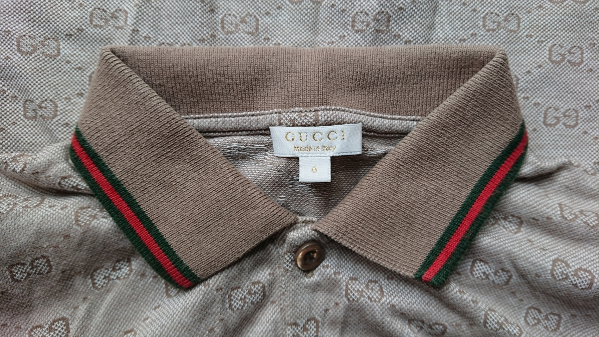 42dcfa65 general merchandise shop buy goods GUCCI children GG pattern polo-shirt  with short sleeves 6 -years old size Sherry line GUCCI Kids Gucci