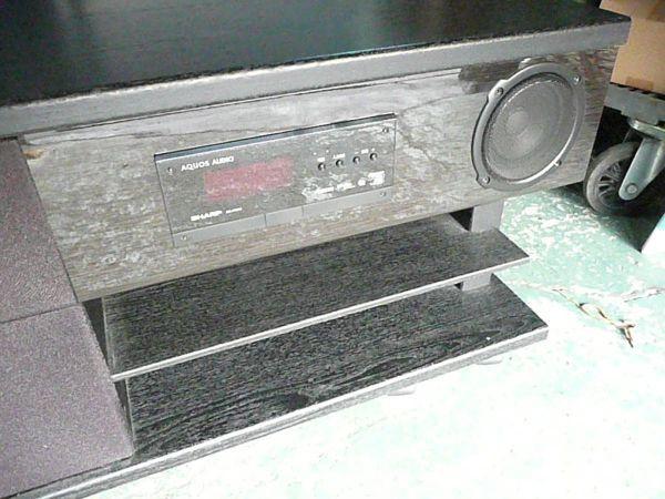 てB26-02-03 SHARP AQUOS AN-AR510 AQUOS シャープ シアターラックシステム スピーカー テレビ台 オーディオ ラック 大阪 引取り可_画像5