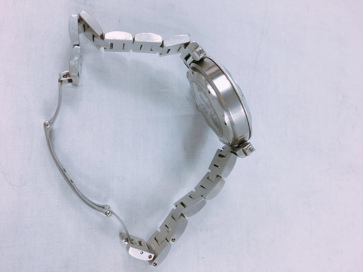 S88 1円~ Cartier カルティエ パシャ クロノグラフ メンズ 自動巻 腕時計 ホワイト文字盤 可動品_画像6