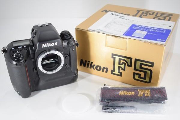 未使用 Nikon ニコン F5 オートフォーカス 一眼レフ フィルム カメラ ボディ 元箱 取説 付属品付 DAI-1107