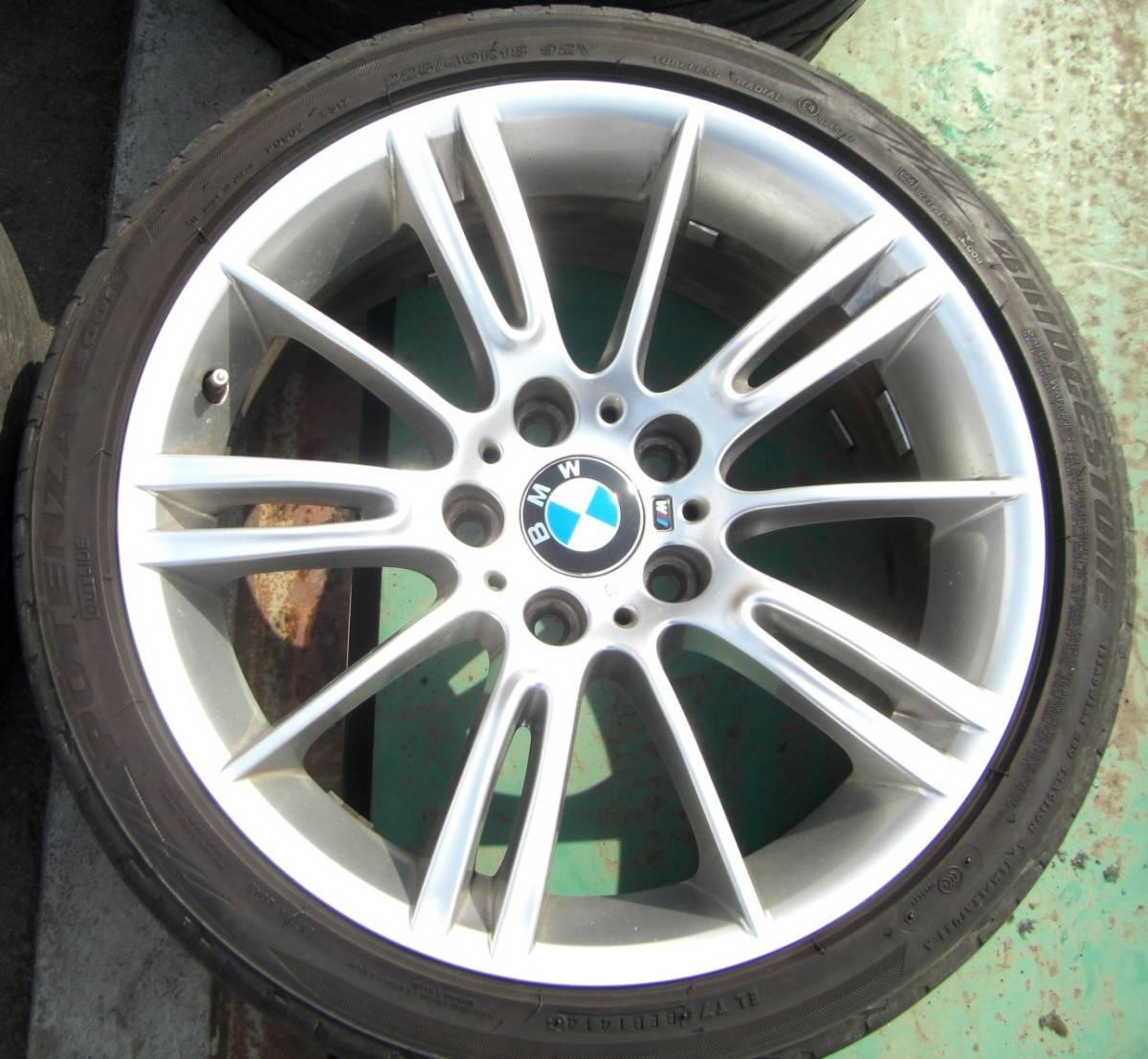 BMW E90 E92 3シリーズ Mスポーツ 純正 18in 8J+32 8.5J+37 PCD120 ブリヂストン ポテンザ 225/40R18 255/35R18_画像3