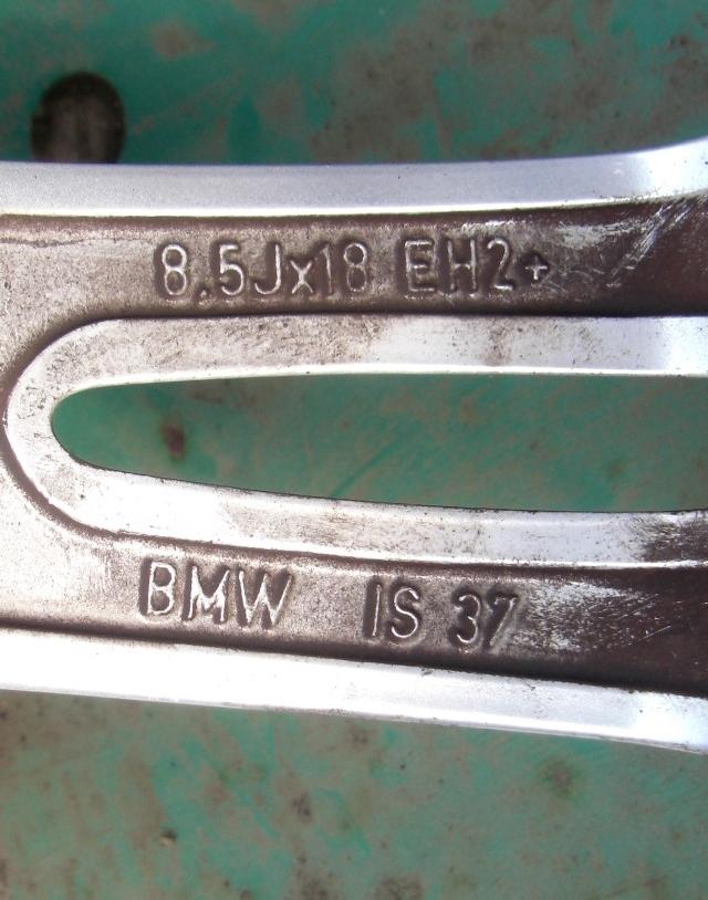 BMW E90 E92 3シリーズ Mスポーツ 純正 18in 8J+32 8.5J+37 PCD120 ブリヂストン ポテンザ 225/40R18 255/35R18_画像7