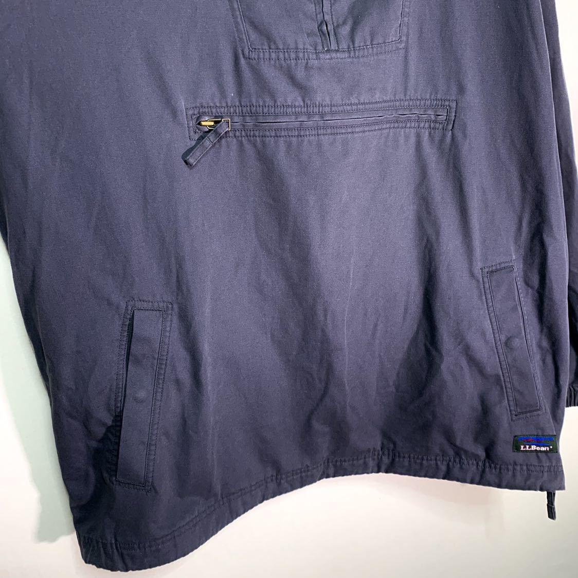 【送料込】90s L.L.Bean アノラック ナイロンジャケット L 紺 ネイビー タイ製 エルエルビーン 70s 80s 00s ビンテージ 古着 オールド_画像5