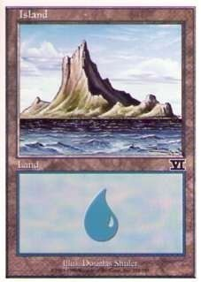 028335-002 第6版/6E/6ED/6TH 基本土地 島/Island(335/350) 英1枚_画像1