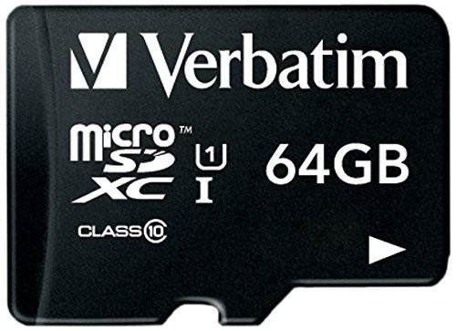 Verbatim 64GB microSDXC エーデータ SDアダプター付 マイクロSD