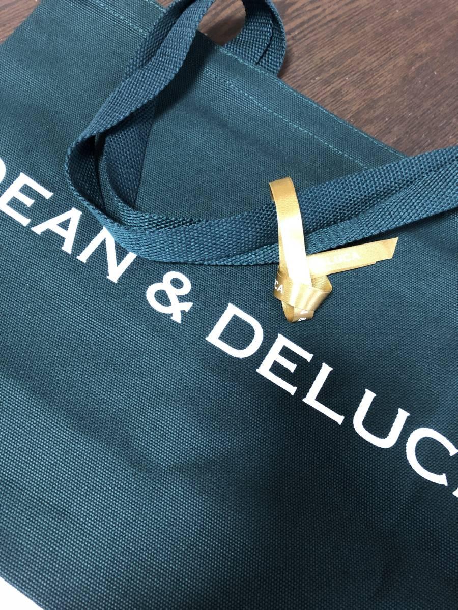 【新品未使用】ディーンアンドデルーカ DEAN&DELUCA チャリティートートバッグ 2018 限定品 ダークグリーン Lサイズ