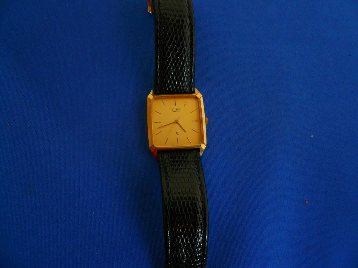 W2)処分価格 即決送料不要 シチズン クオーツ腕時計 ゴールド_画像5
