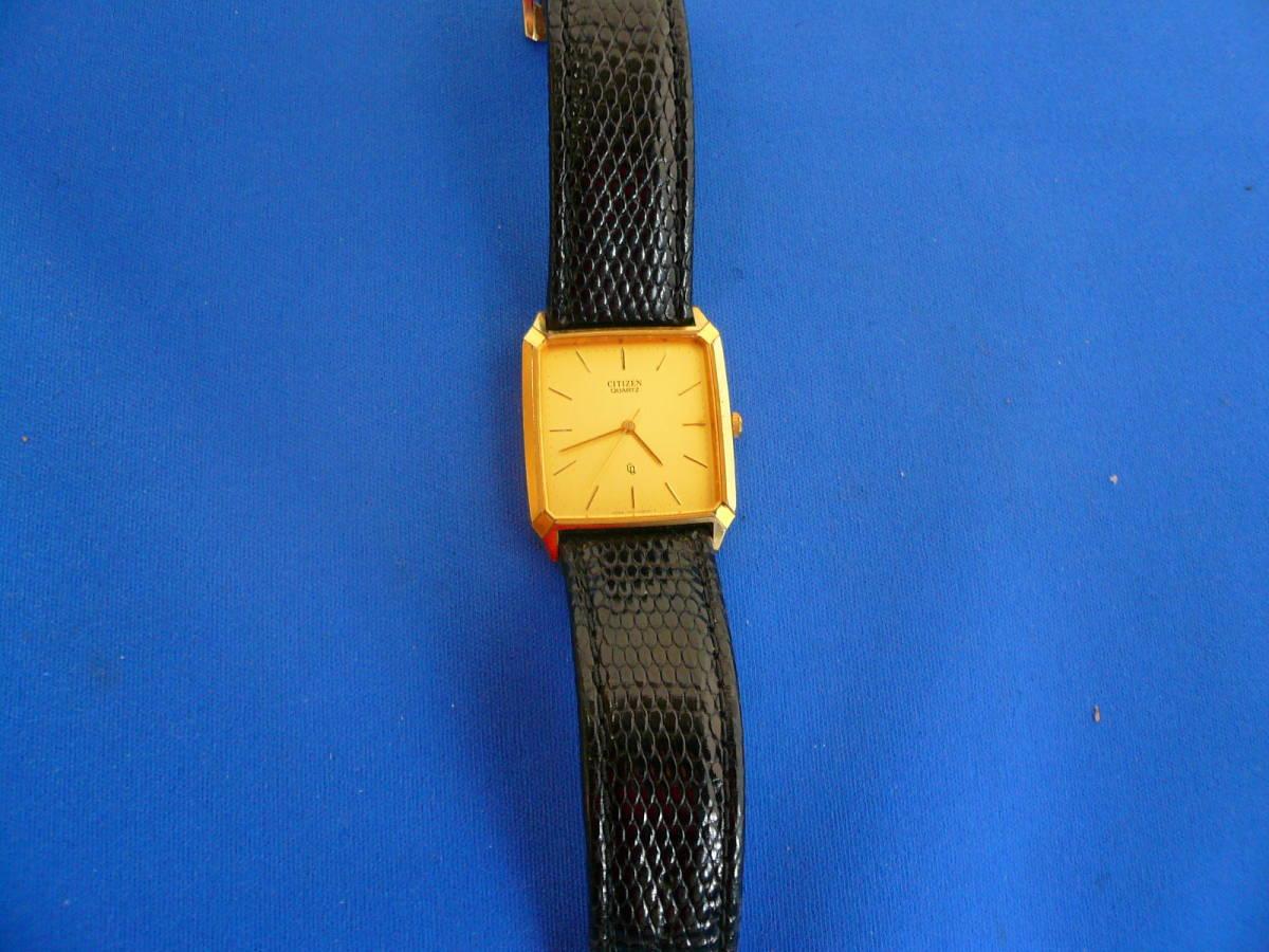 W2)処分価格 即決送料不要 シチズン クオーツ腕時計 ゴールド_画像6
