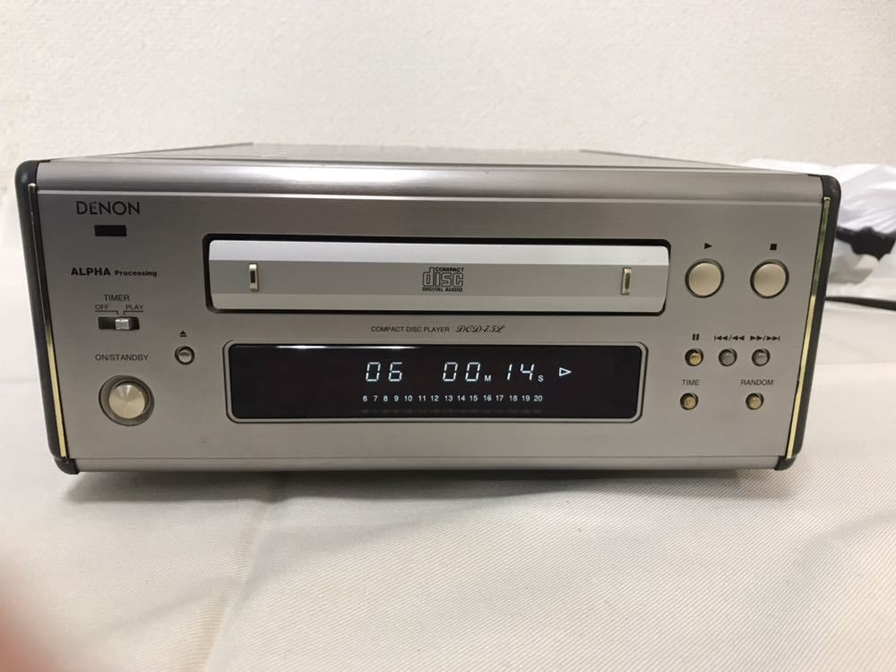 DENON CDプレーヤー DCD-7.5L 動作品 ジャンク扱い 8m6045_画像3