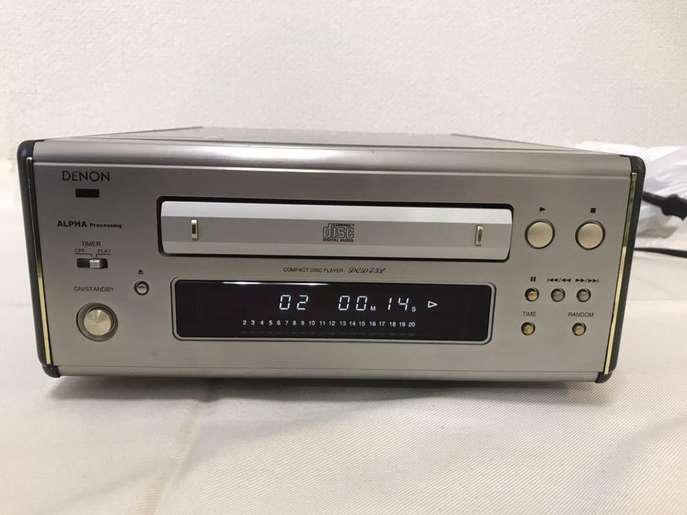 DENON CDプレーヤー DCD-7.5L 動作品 ジャンク扱い 8m6045_画像2
