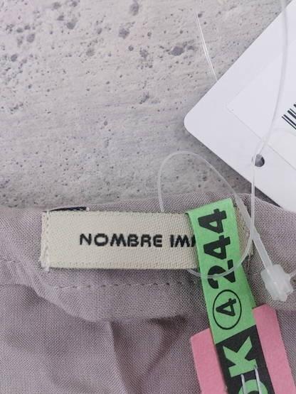 ◇ NOMBRE IMPAIR ノンブルアンペール バイカラー フレンチスリーブ ミニ ワンピース F グレー パープル系 * ◆ 1000026541739_画像3